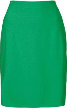 Topshop Green Crepe Pencil Skirt on shopstyle.com