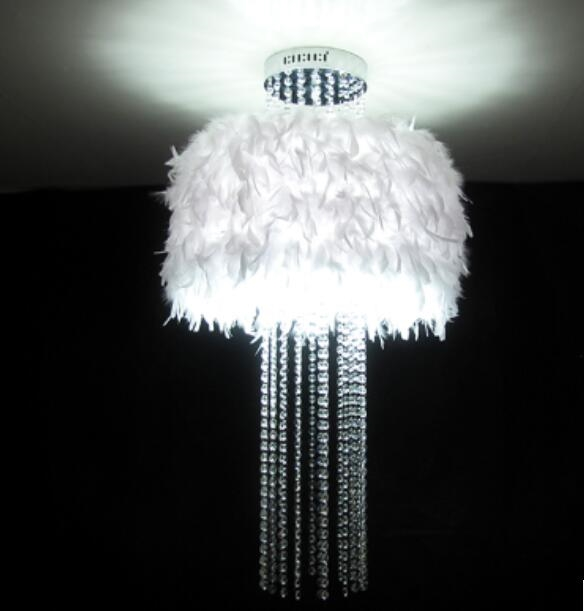 218.00$  Watch here - http://ali7nf.worldwells.pw/go.php?t=32619250689 -  pendant lights bedroom living room lights crystal lamp feather tassel lamp k9 crystal feather pendant lamps