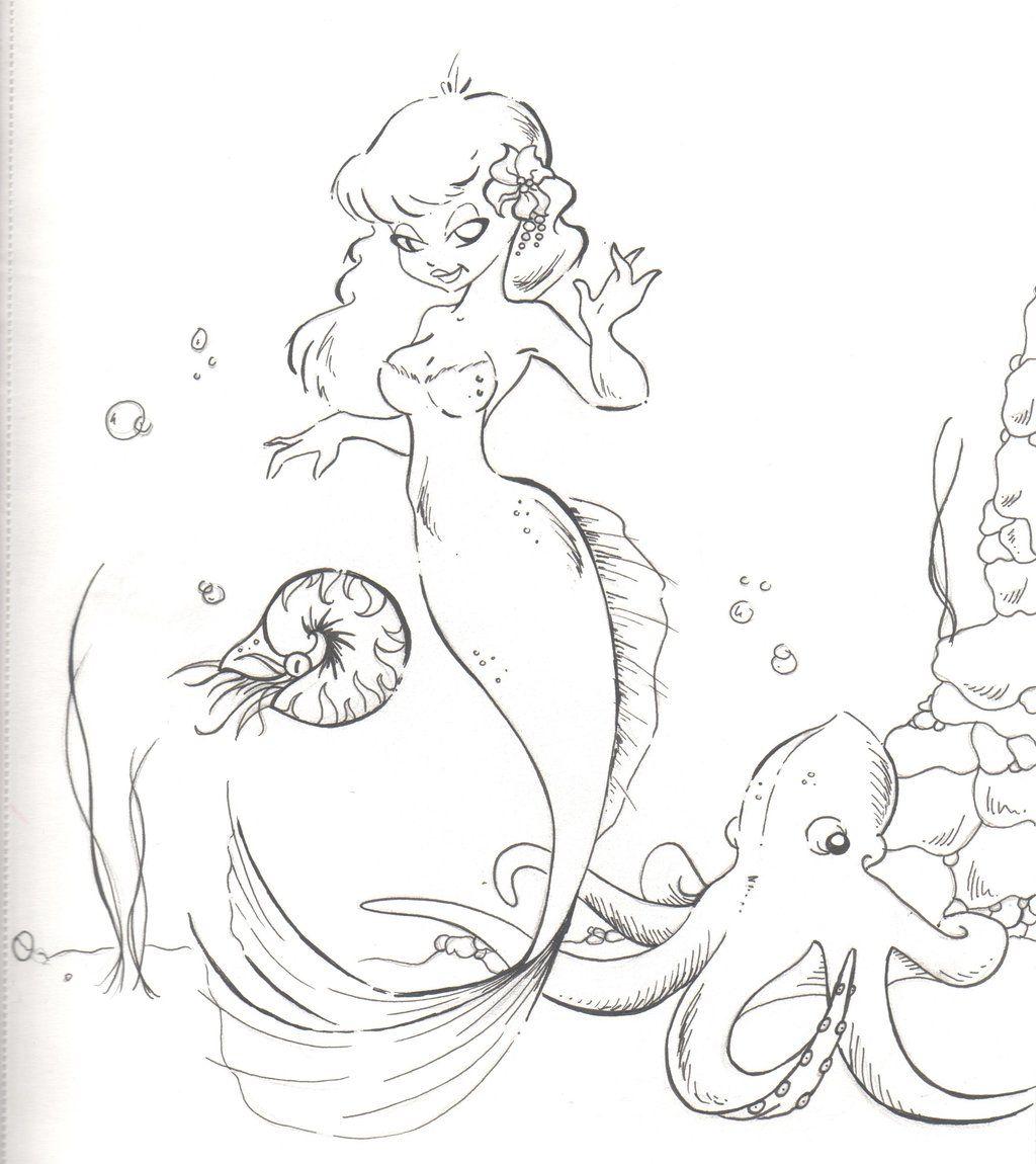 mermaid sketches drawings coloring sheets pinterest mermaid
