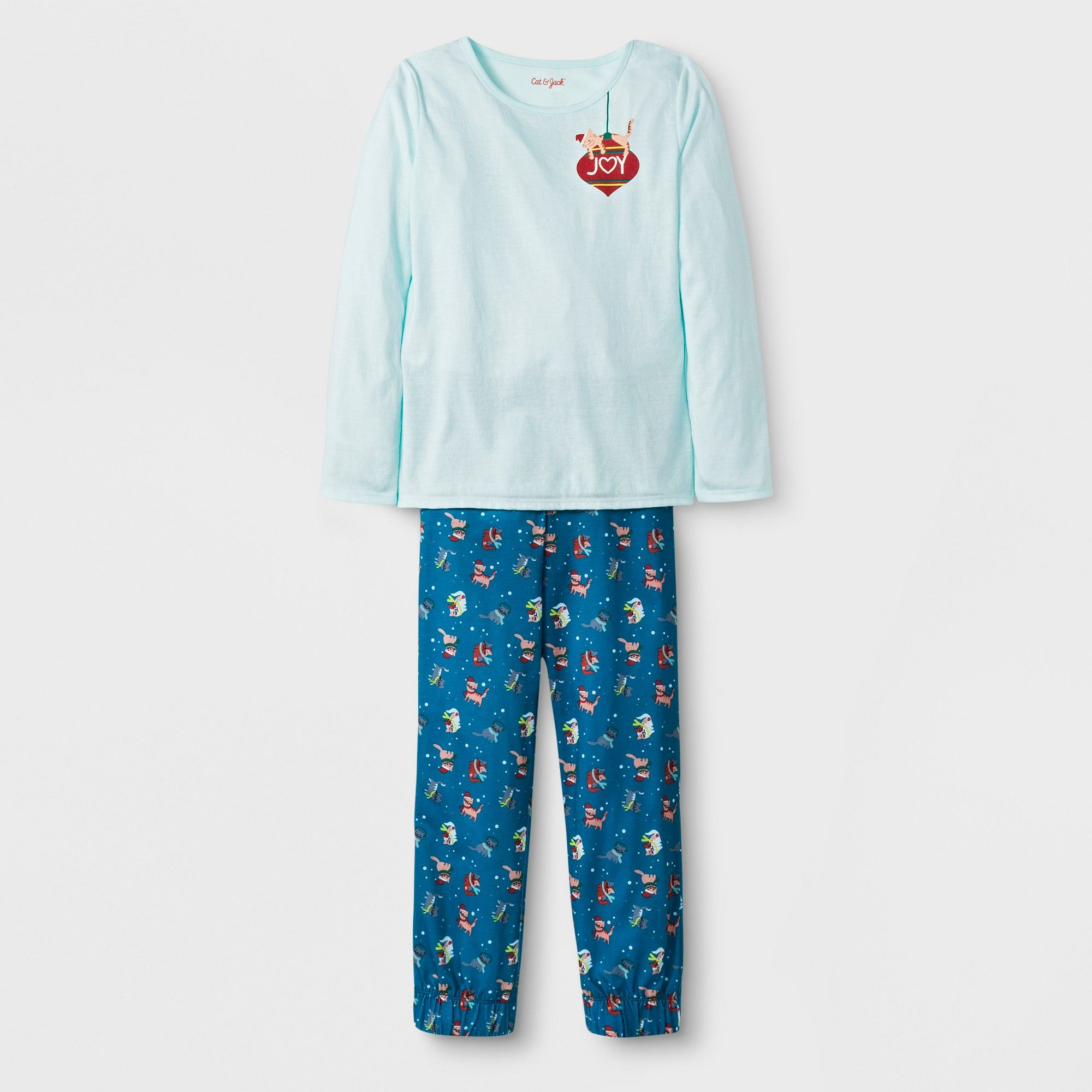 829eb26ec Girls  2pc Long Sleeve Christmas Cat Graphic Pajama Set - Cat   Jack ...