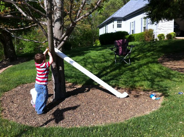 Outdoor Play with a PVC Pipe