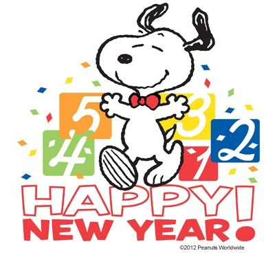 Happy New Year !  Charlie Brown  Snoopy happy new year, Snoopy