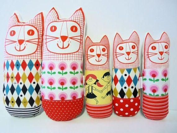 Retro Fabric Toy by etsy seller Janefoster