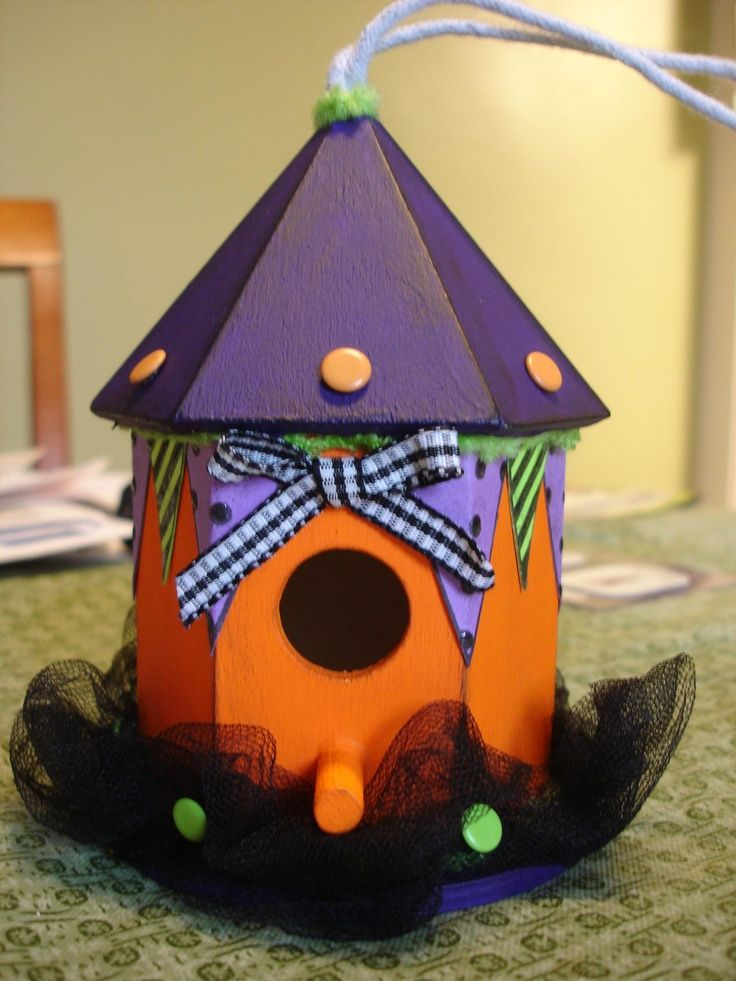 Halloween Birdhouse Found on Uploaded by user Fall Craft ideas - halloween craft decorations