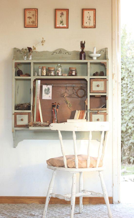 la maison boop! Homely Carpentry ♡ Wall Desk Cottage ♡ Escritorio - muebles de pared