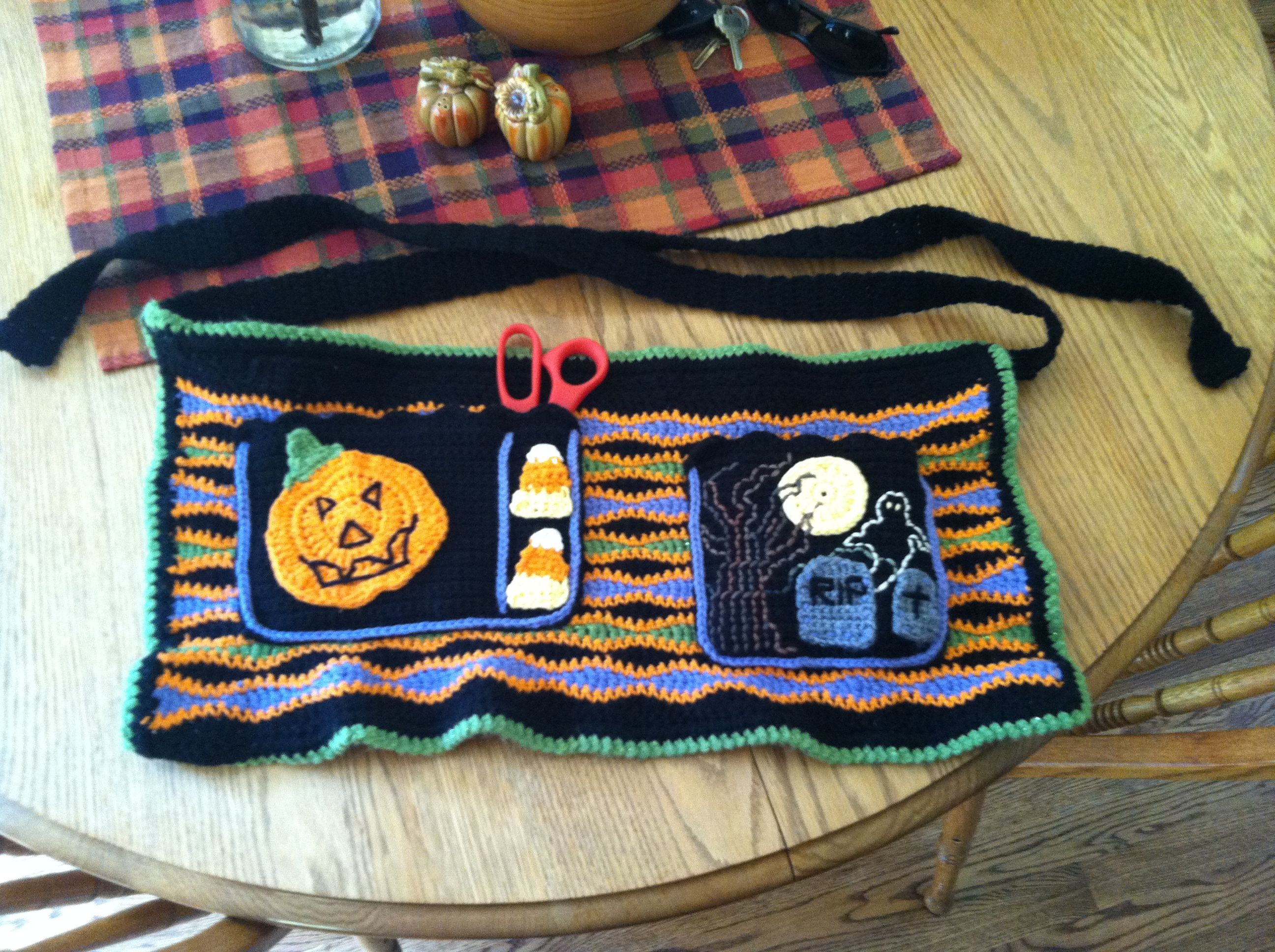 A Halloween Utility Apron that I made to use at work. :)