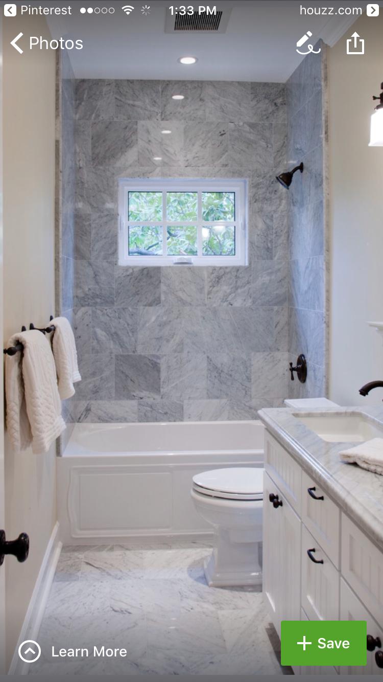 Set Up Like My Bath Like Larger Shower Tile And Color Scheme Bathroom Design Inspiration Bathroom Remodel Designs Window In Shower