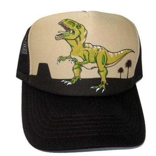 Children s Kids Toddler Dinosaur Tyrannosaurus Rex T Rex Cap Snapback Mesh  Trucker Baseball Hat Brown by Okitani.  11.99. Fits Kids 3-12 Years Old. ... dce44ec09fb9
