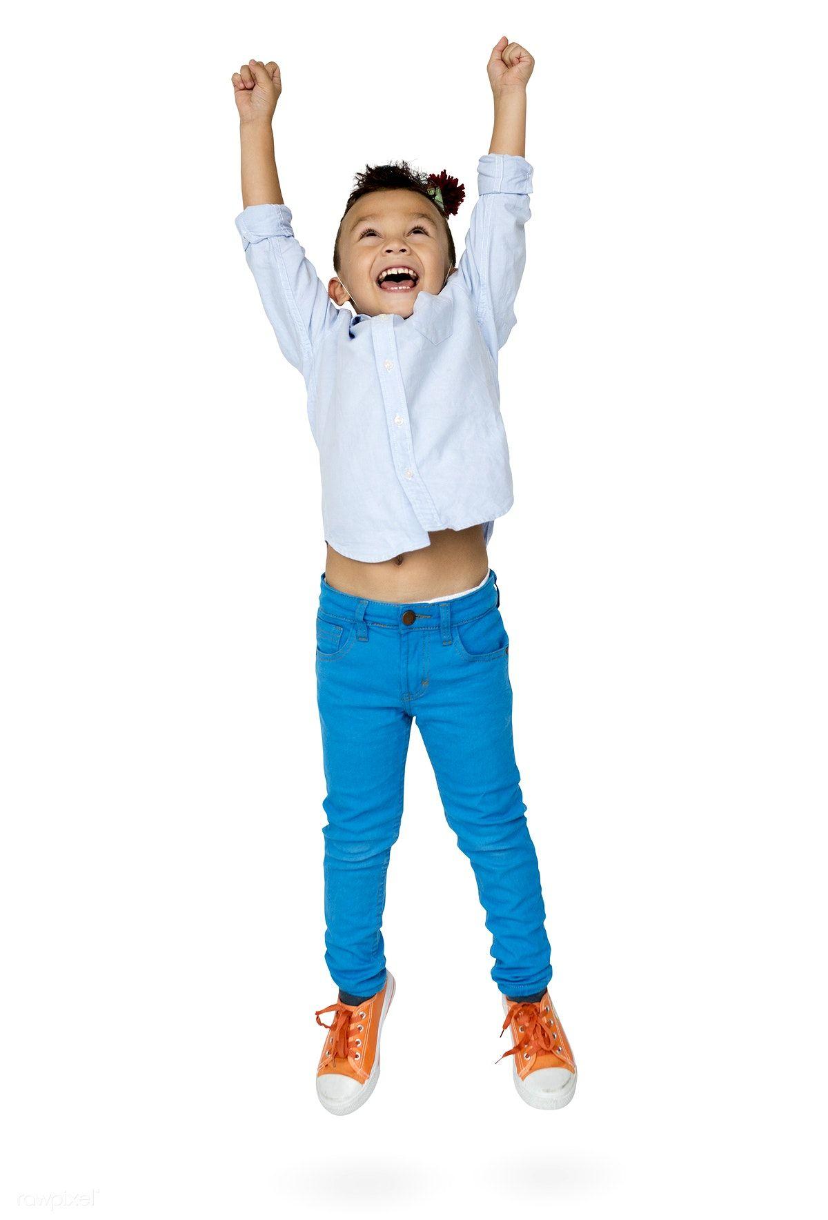 Download Premium Psd Of Little Boy Junping Enjoy Happiness Cheerful Studio People Png Kids Club Studio Portraits