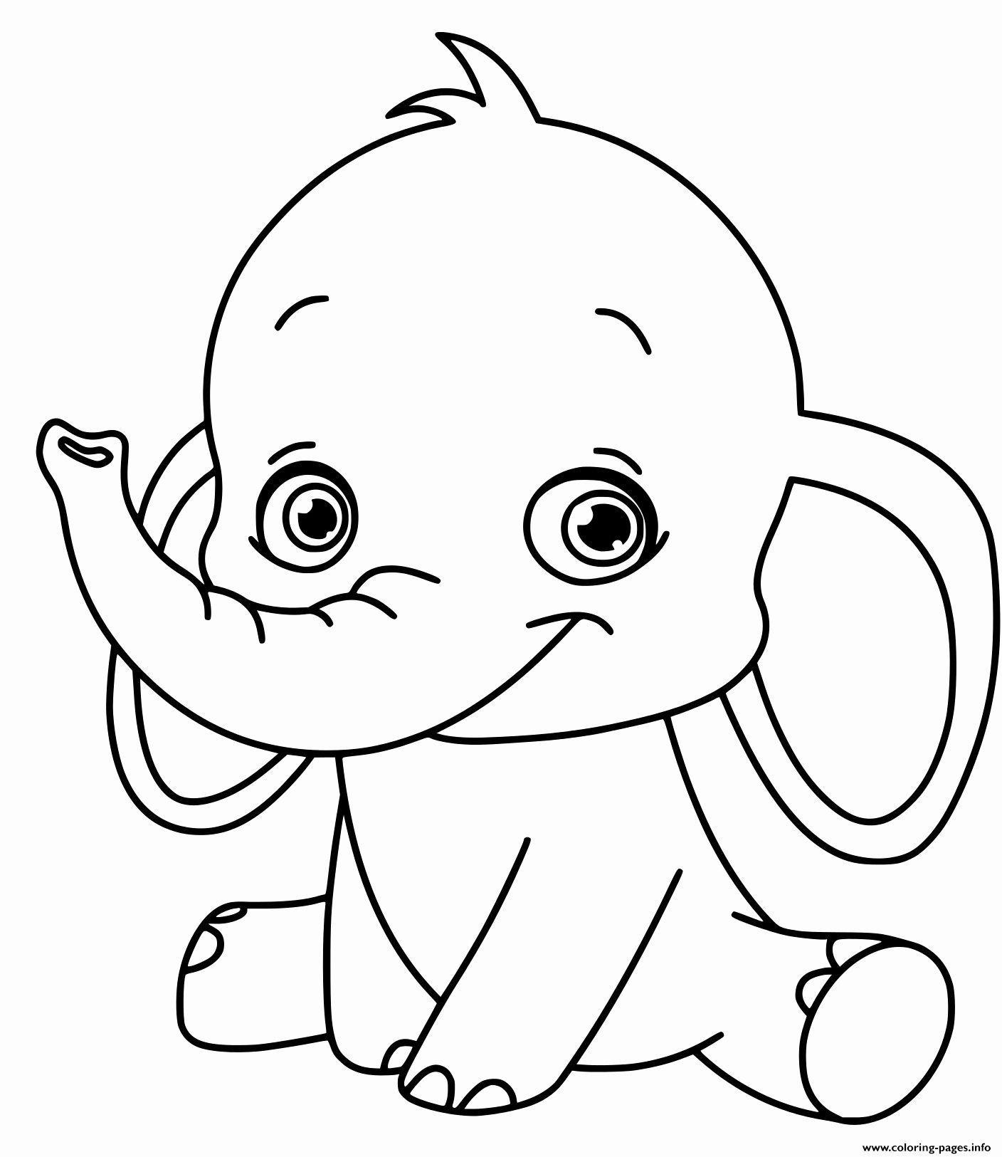 Coloring Pages Disney Free Printable Elephant - PeepsBurgh