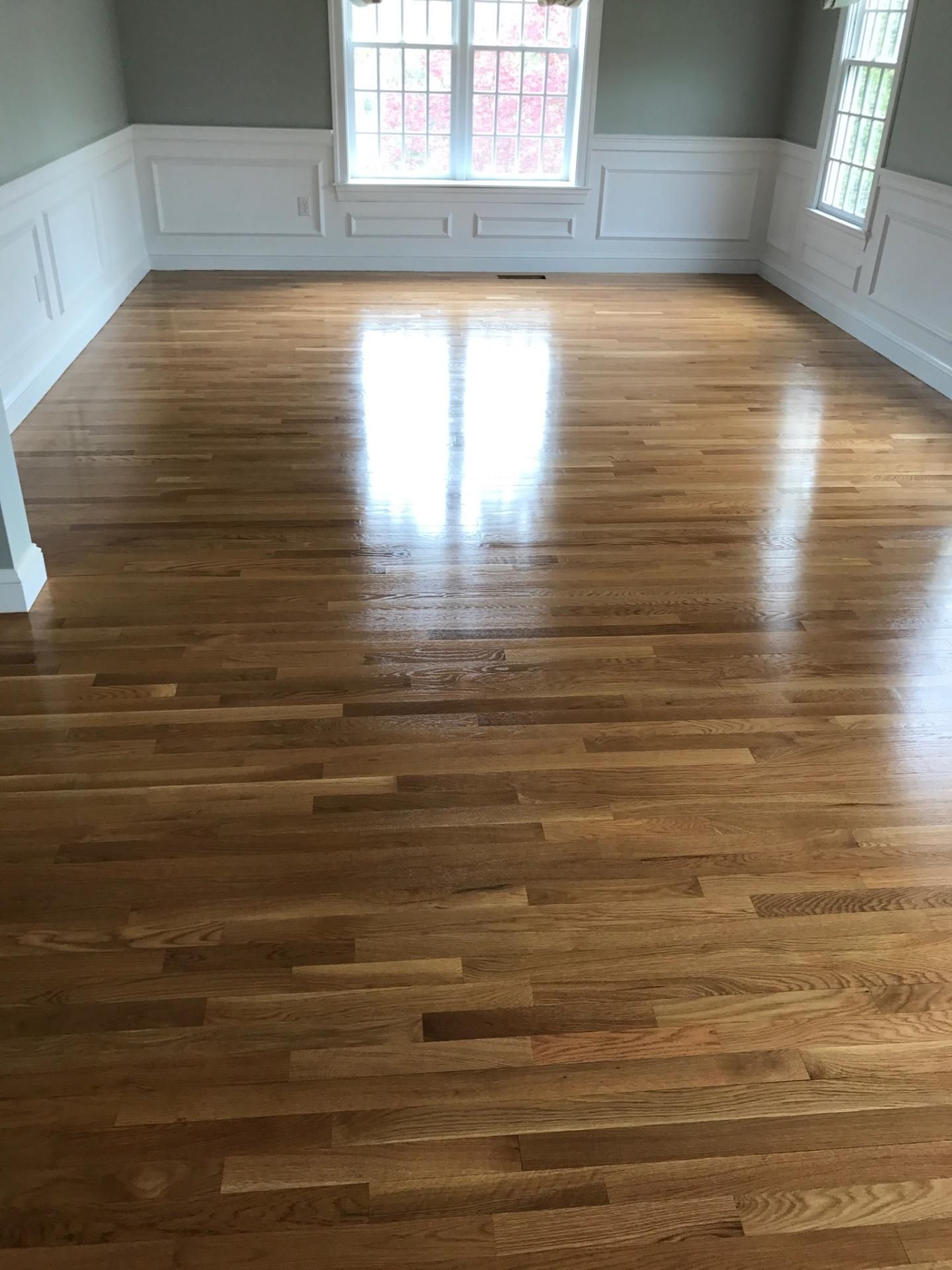 We Resanded Natural White Oak Hardwood Floors And Applied An Oil Based Finish In The Kitchen Formal Oak Hardwood Flooring Flooring White Oak Hardwood Floors