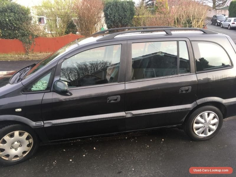 2000 Vauxhall Zafira Comfort 16v Black Vauxhall Zafiracomfort16v