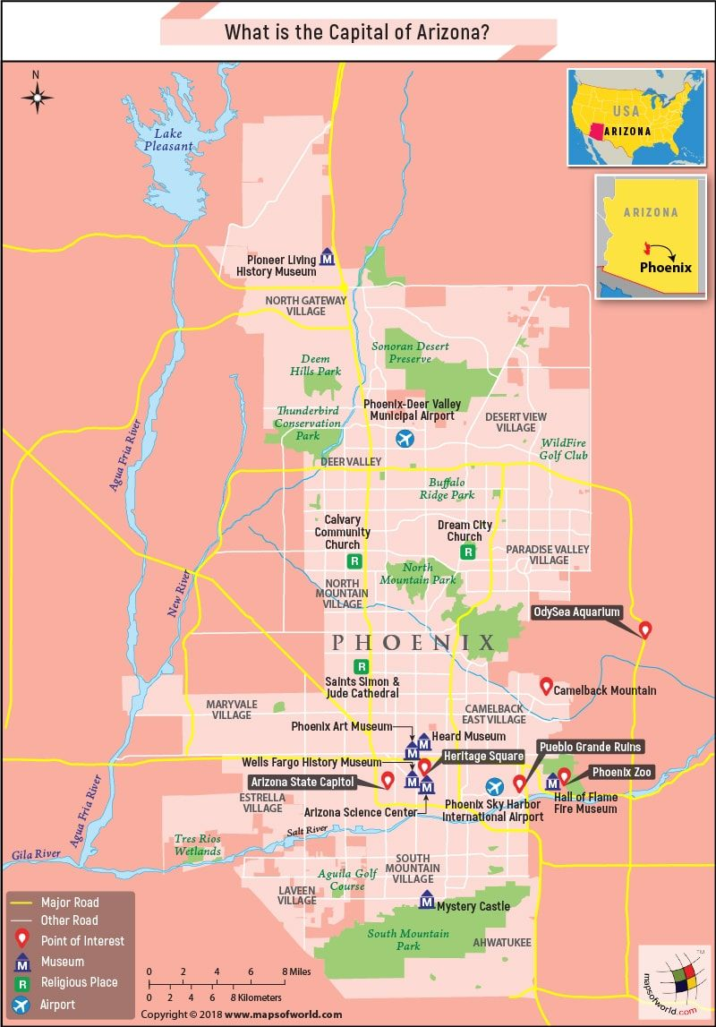 Map Of Unit 8 Arizona.What Is The Capital Of Arizona United States Arizona United