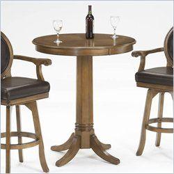 Hillsdale Warrington Round Bar Height Pub Table In Rich