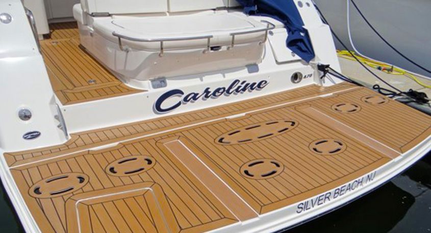 Inexpensive Yacht Synthetic Teak Deck Anti Slip