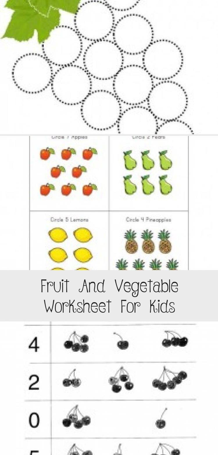 Fruit And Vegetable Worksheet For Kids Crafts And Worksheets For Preschool Toddler And Kindergarten Toysw In 2020 Teenager Crafts Best Kids Toys Worksheets For Kids