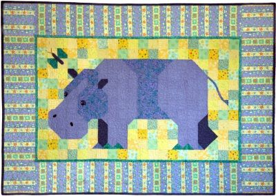 "12782a37 Hippopotamus Patchwork Quilt Pattern: ""Chloe"" is bit of a shy hippo ..."