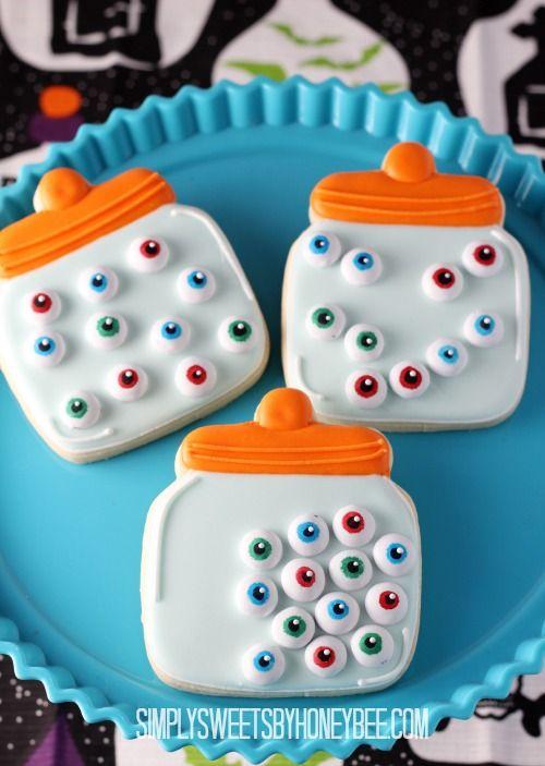 Eyeball Jar Cookies - simplysweetsbyhoneybee.com