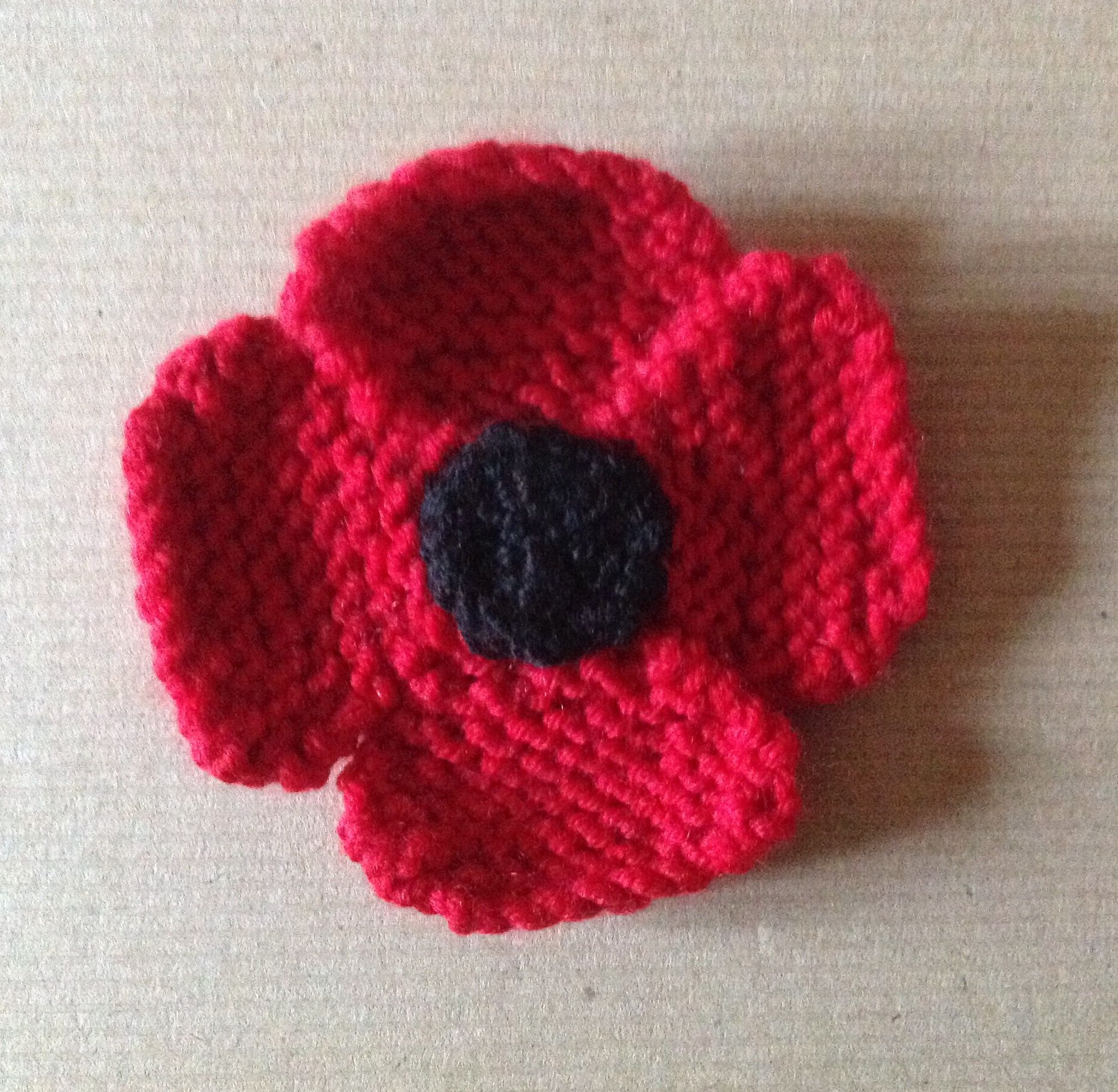 OCTOBER MONTHLY PROJECT - Knitted Remembrance Poppy ...