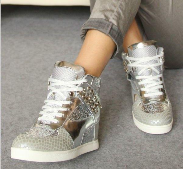 super popular 80b7f 48af1 ... Nike Dunk Hi Wedges Sneaker Wedding Shoes - Uddin Bridal. Love this  pair of sneakers. Bling Wedding Sneakers for Brides - From Flats to Heels