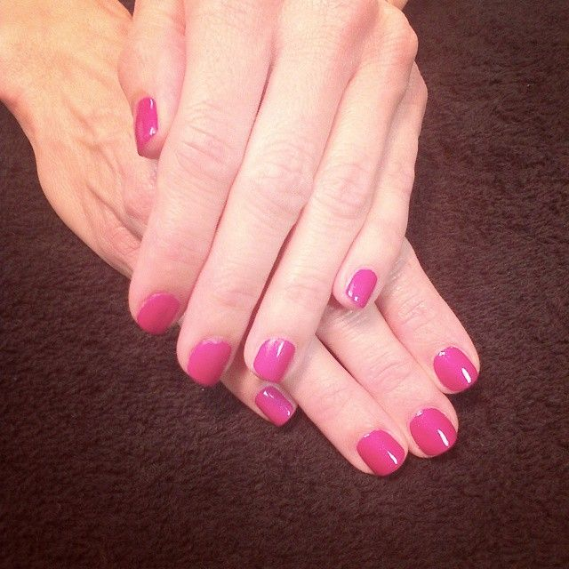 Simple pink manicure by the girls at @SimpleSolitude in Vancouver, WA!