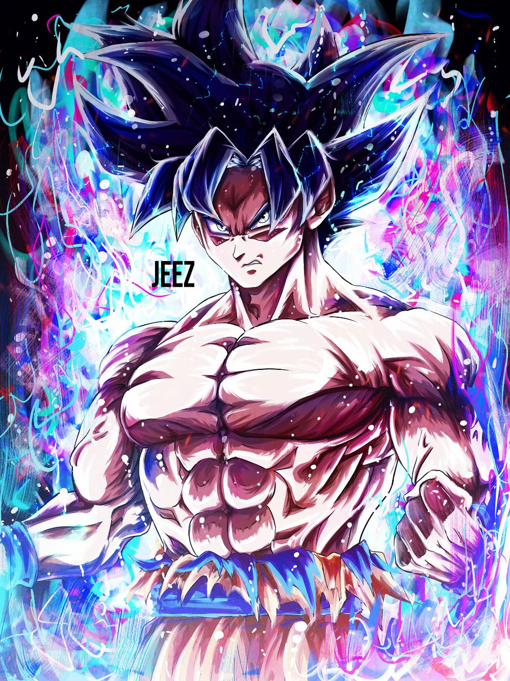 Artstation Mastered Ultra Instinct Goku Jeez Art Dragon Ball Super Artwork Dragon Ball Wallpaper Iphone Anime Dragon Ball Super