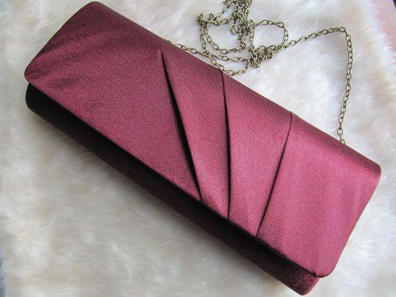 Vintage bordeaux handbag red handbag bordeaux by BeauBardot, $16.00