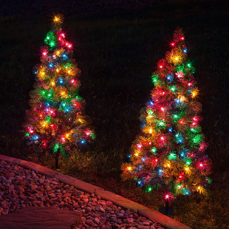 finest selection 6d1cd d63eb 2' Walkway Pre-Lit Winchester Fir Tree, 50 Multicolored ...
