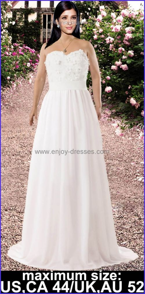 strapless chiffon plus size wedding dresses-maximum size:Canada,US ...