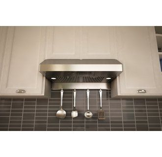View The Zephyr AK7100AS BF 400 CFM 30 Inch Wide Under Cabinet Range Hood  With Halogen Lighting And Baffle Filters From The Gust Collection At  Build.com.
