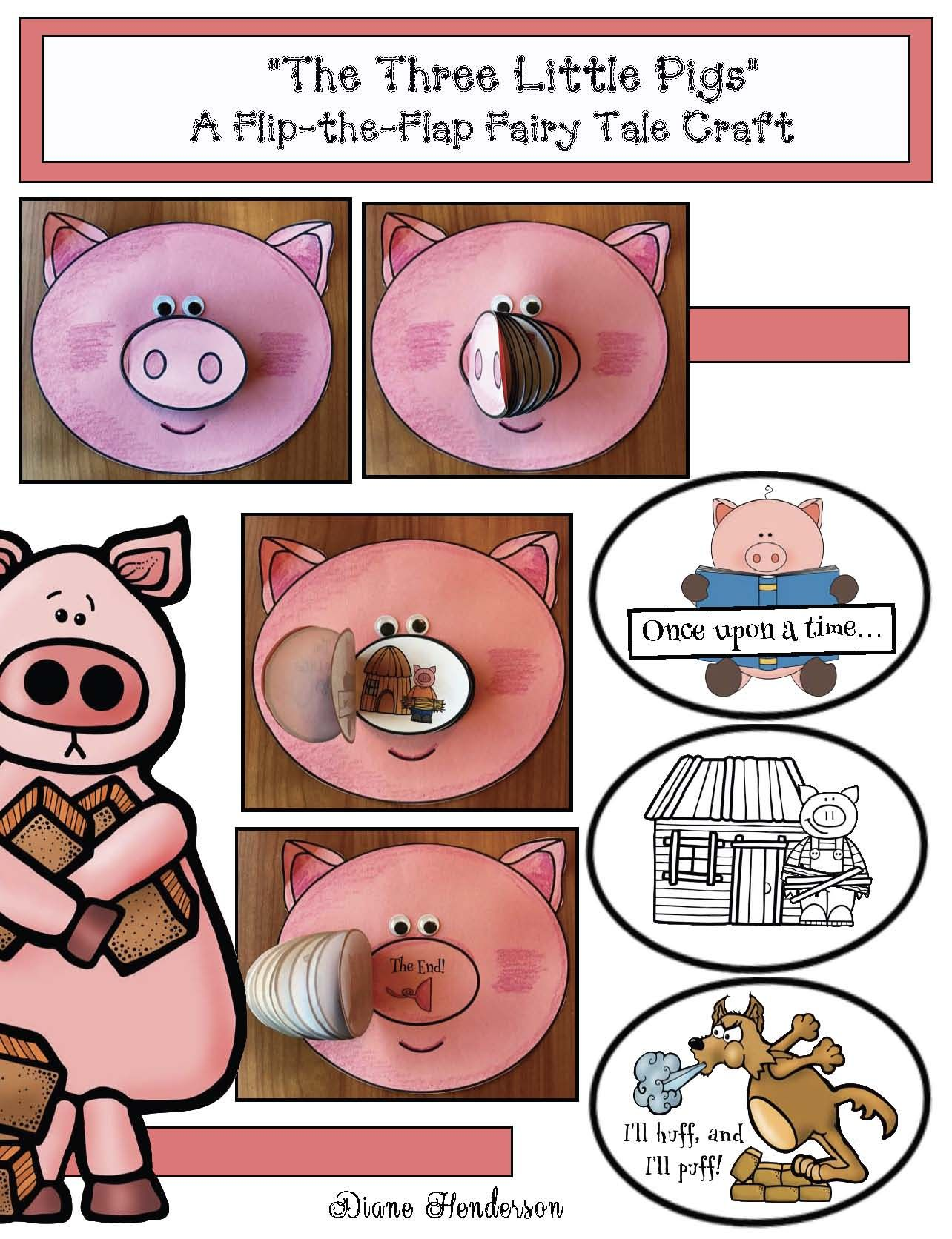 Activities Crafts For The 3 Little Pigs Fairy Tale Fairy Tale Crafts Fairy Tale Activities Fairy Tales [ 1672 x 1284 Pixel ]
