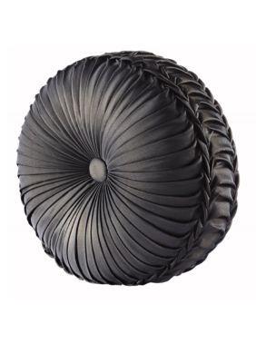 J Queen New York Bridgeport Round Decorative Pillow - Black - 15 In.