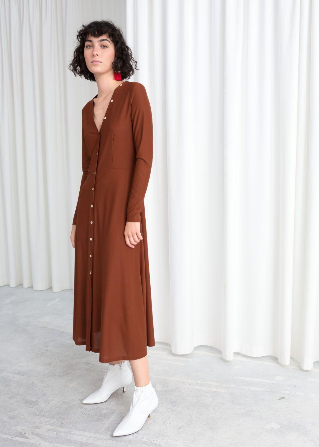 Button Up Midi Dress Fashion Midi Dress Dresses [ 1435 x 1025 Pixel ]