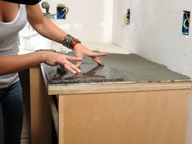 How to install a granite tile kitchen countertop diy network how to install a granite tile kitchen countertop how to diy network solutioingenieria Image collections