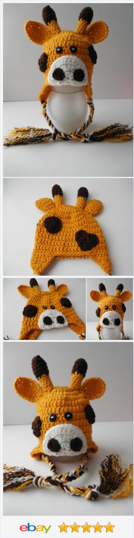 Giraffe Hat - Animal Hat - Baby to Adult Sizing - Crochet - Made to Order | eBay