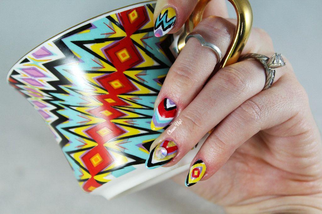 Lady Gaga Teacup Nail Art Nails And Polish Pinterest Lady Gaga