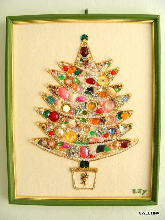 Beautiful Vintage Christmas Craft Ideas Part - 3: Vintage Bling Christmas Tree By Sweetina This Is What Started It All For Me  On The