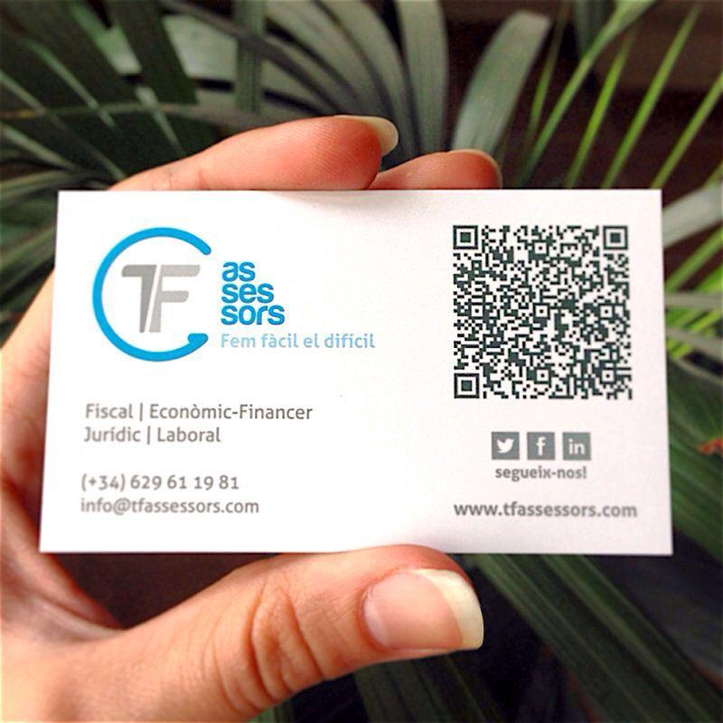 Tarjeta dorso TF Assessors. #Branding #logo