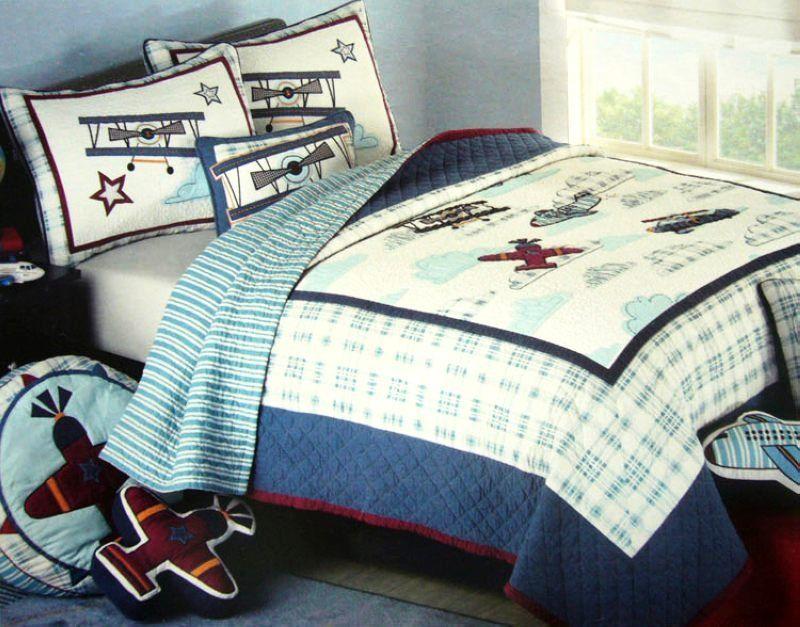 Boys Bedding set / kids bedding set/Patchwork quilts/twin size ... : boy quilts bedding - Adamdwight.com