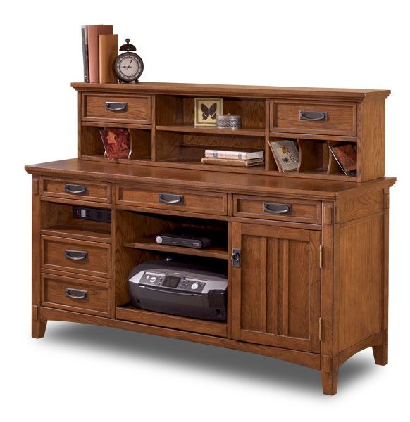 Cross Island Credenza with Low Hutch H319-SET