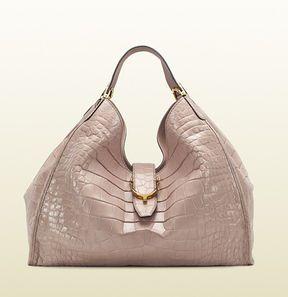 d45d1f46130 ShopStyle.com: Soft Stirrup Light Pink Crocodile Shoulder Bag $28,000.00