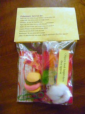 Fisherman 39 s survival kit 9 items inside novelty gift for Fishing gag gifts