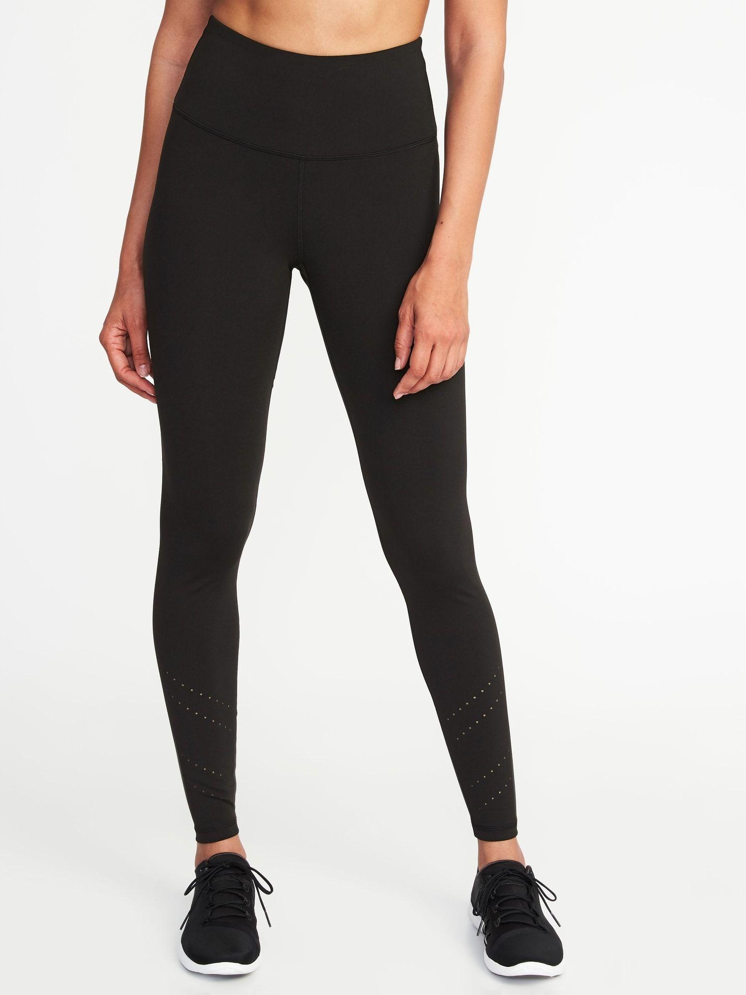 8aca79e1270cc High-Rise 7/8-Length Laser-Cut Compression Leggings for Women in ...