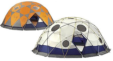 The Mountain Hardware Stronghold Camping Tent shields you from even the most horrific elements, constructed in a dome shape with some of the strongest geometry known to man. It's supposedly big enough for 10 people.