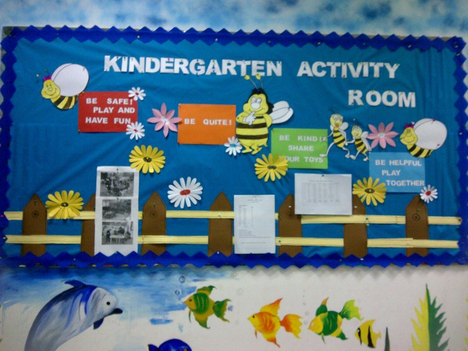 Creative Classroom Decoration For Kindergarten : Bee board bulletin spring decoration preschool