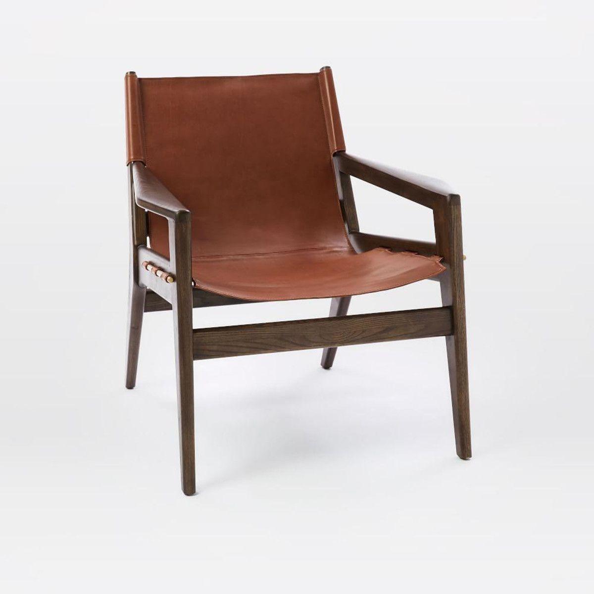Felipe Leather Sling Chair West Elm $1400