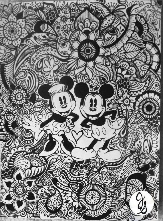 Diseo De Minnie Y Mickey Disney Coloring