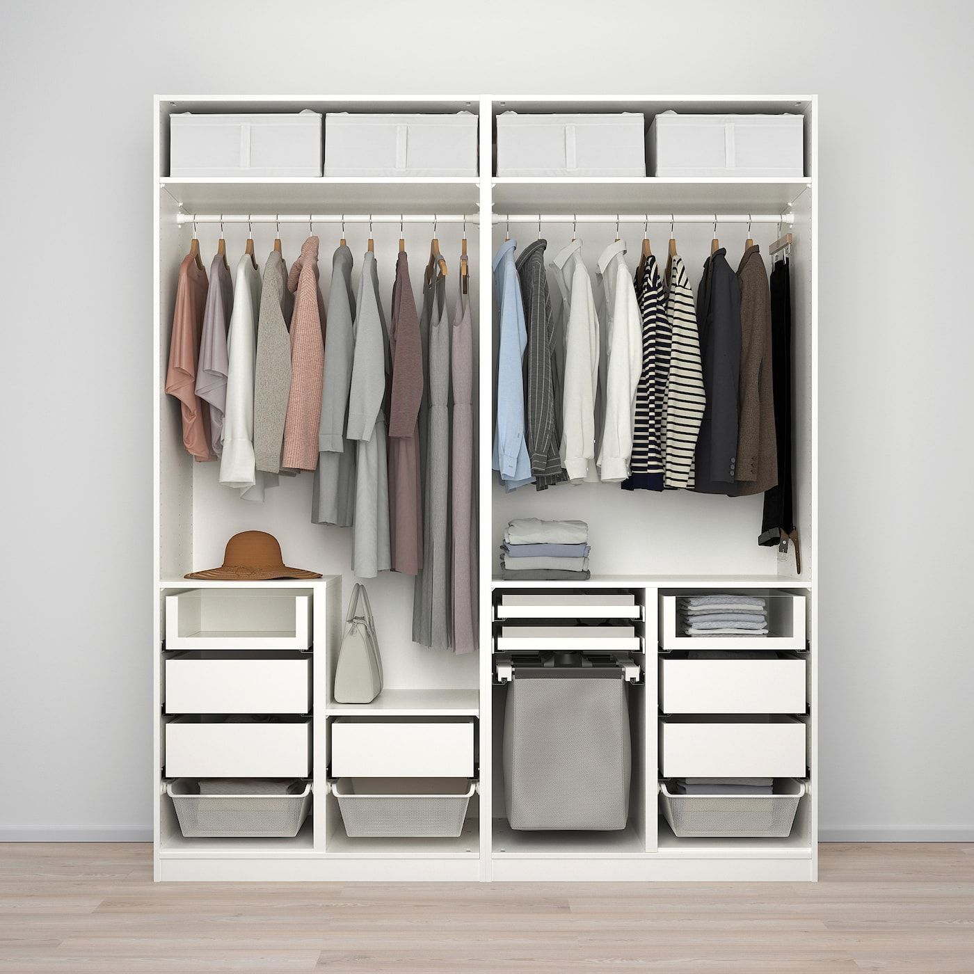 PAX Wardrobe white, Mehamn Sekken 78 3/4x26x93 1/8
