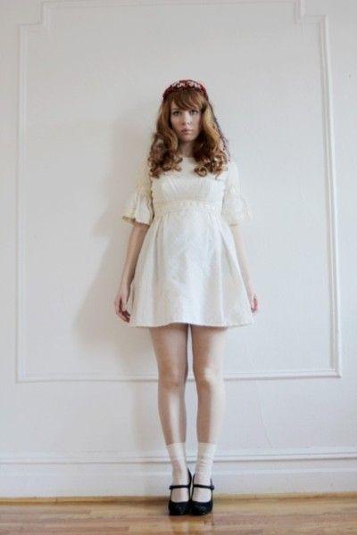 White Polka Dot Mini Dress by mylovedone on Etsy