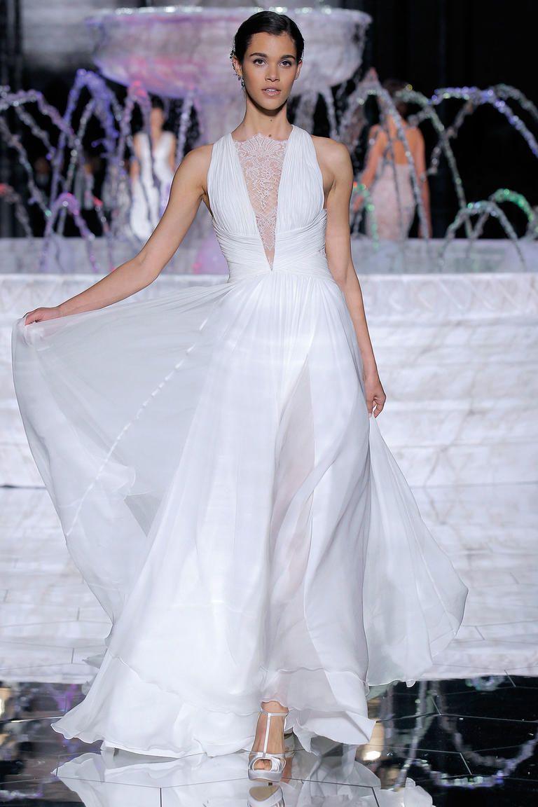 Atelier pronovias spring feminine waterinspired wedding